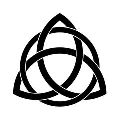 Black Triquetra ornament