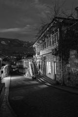 'In the town of Chekhov': Old Gurzuf, Crimea street before sunrise