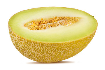 Fresh melon isolated on white background with clipping path