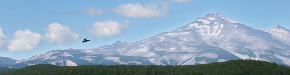 panorama, Russia, mountains, kamchatka