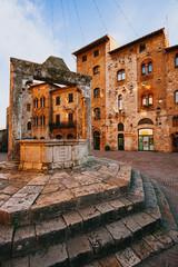 Fototapeten Schloss Ancient village San Gimignano.