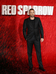 "Actor Schoenaerts arrives for the European premiere of ""Red Sparrow"" in London"