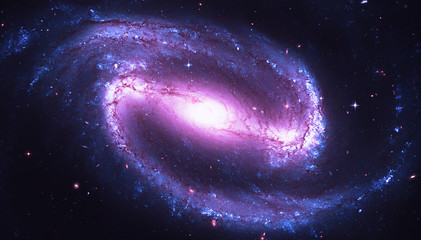 Barred spiral galaxy in the constellation Eridanus. NGC 1300. Elements of this image furnished by NASA.