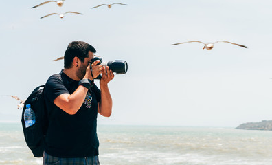 Photographing the fishing port of Essaouira