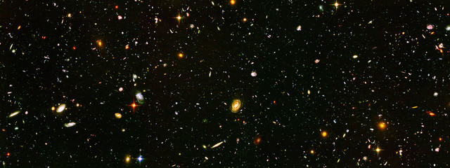 Deurstickers Heelal Deep Field Galaxies, Elements of this image furnished by NASA. Retouched image.