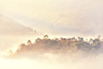 Foggy Landscape, Pokhara, Nepal