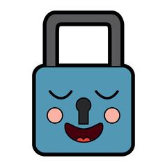 safety lock happy emoji icon image vector illustration design