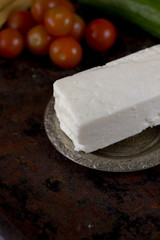 Natural and organic indian cheese paneer,
