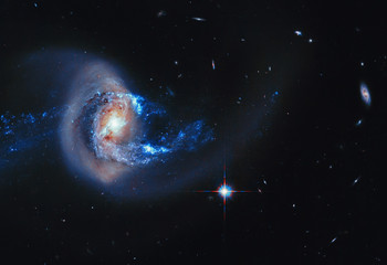 Space Galaxy Background. Elements of this image furnished by NASA.