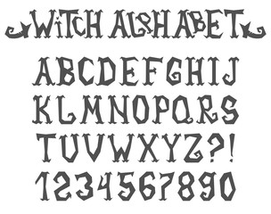 Witch Spooky and Magical Alphabet