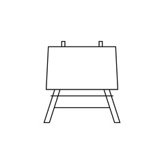 easel icon on white