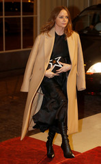 Fashion designer McCartney arrives at the Commonwealth Fashion Exchange Reception at Buckingham Palace in London
