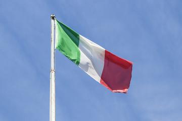 Italian flag waving