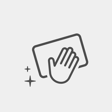Cleaning flat vector icon