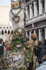 Carnival masks at a traditional festival in Venice