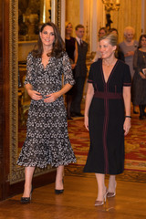 Catherine and Countess of Wessex, host reception to celebrate the Commonwealth Fashion Exchange at Buckingham Palace in London