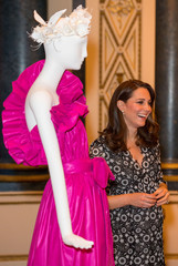 Catherine attends reception to celebrate the Commonwealth Fashion Exchange at Buckingham Palace in London