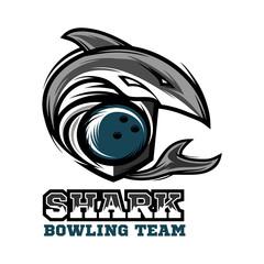Shark Bowling Logo Vector 01