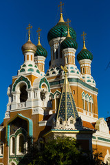 The orthodox Cathedral church of Saint Nicolas in Nice