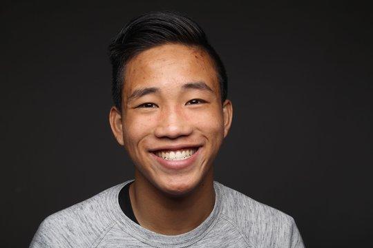 Happy asian man