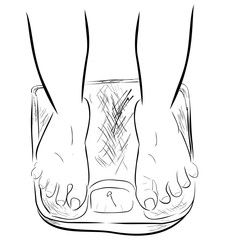 Outline Sketch of Ideal / Slim Foot at Weight Scale