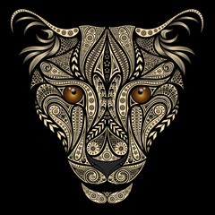 Beautiful vector leopard from various patterns