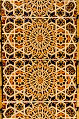 Moorish design on tiled wall