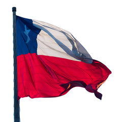 Isolated flag of Chile