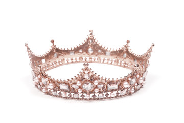 A King or Queen's Rose Gold Crown