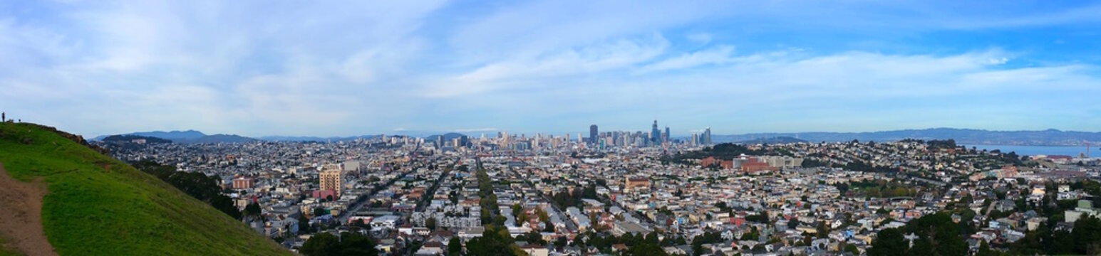 PANO View of  San Francisco from Bernal Heights