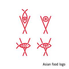 Sign for an Asian restaurant, Asian food