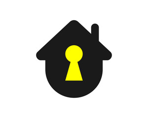 key hole house home residency image vector icon