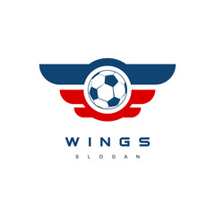 Winged Soccer Team Logo