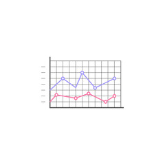 Logarithmic diagram icon. Element of colored charts and diagrams for mobile concept and web apps. Icon for website design and development, app development. Premium icon