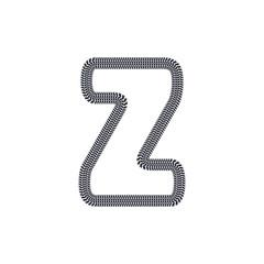 Z Tire Print Track Letter Logo Icon Design