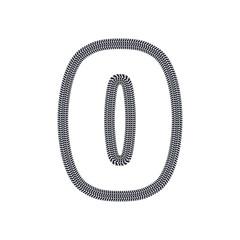 0 Tire Print Track Letter Logo Icon Design