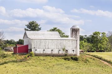 Somewhere in Ohio - White Cattle Barn