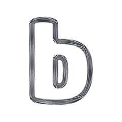 B Tire Print Track Letter Logo Icon Design