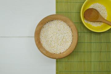 bowls with amaranth