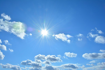 かがやく太陽 青空