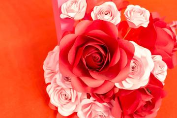 紙・アート・薔薇・花束