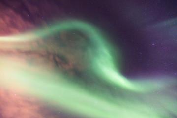 Grüne Aurora Borealis