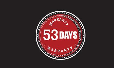 53 days warranty icon vintage rubber stamp guarantee