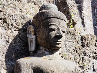 Buddhist statue in Myanmar, southeast Asia