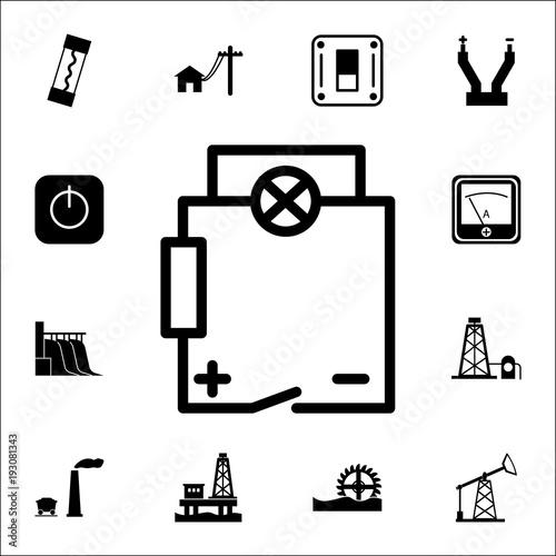 Electrical circuit icon. Set of energy icons. Premium quality ...