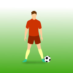 Free Kick Stance Football Player Vector Illustration