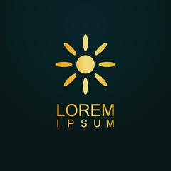 gold sun shine logo