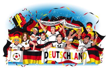 Germany soccer fans,