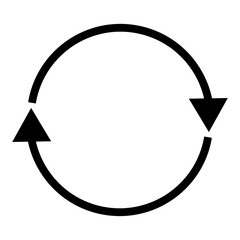Double curved refresh/recycle icon