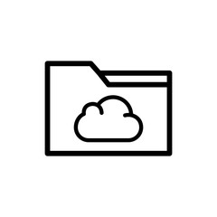 Cloud folder vector icon